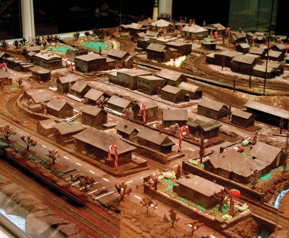 Be the train driver in a chocolate village